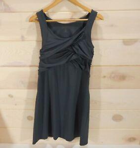 Athleta-Draped-Tunic-Dress-Sz-M-Gray-Casual-Summer-Travel-Criss-Cross-Sleeveless