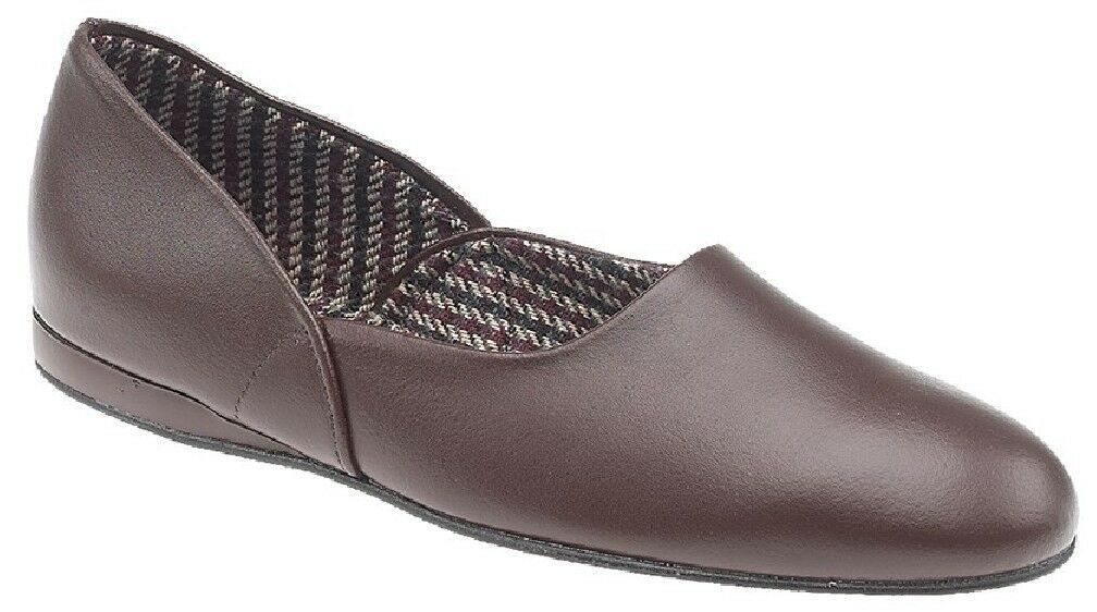 Sleepers ABRAHAM All Leather Coated Deluxe Grecian Slippers Dk.Brown Coated Leather Leather 9a7a84