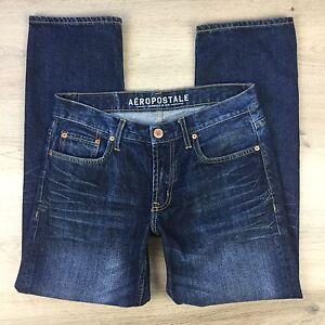 Aeropostale-Straight-Leg-Men-039-s-Blue-Denim-Jeans-Size-29-30-Actual-W32-L29-EE8
