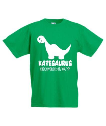 Personalised Kids Dinosaur T-Shirt Great Birthday Gift Boys Girls Jurassic T