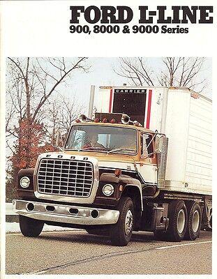 1979 Ford L-Line 900 8000 /& 9000 Series Truck Sales Brochure