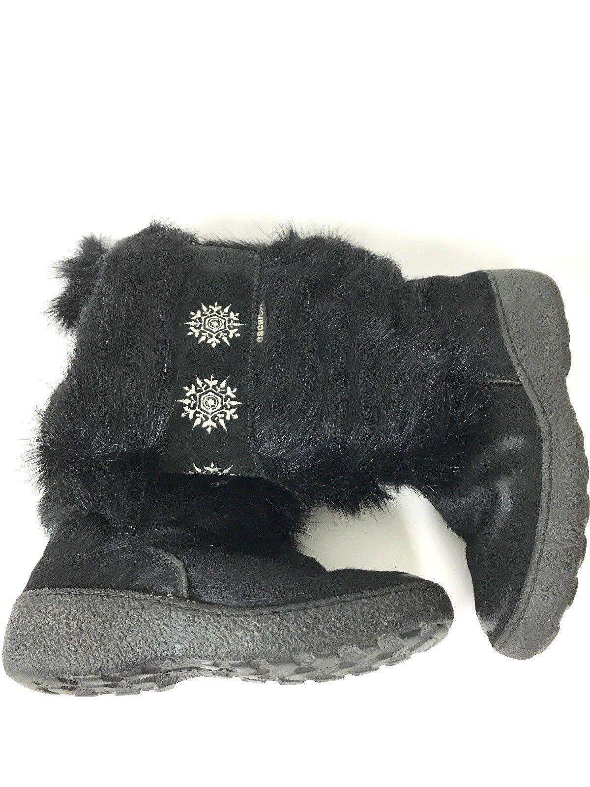 Oscar Sport Negro Negro Negro botas De Piel Copos de Nieve Tamaño 38 US 7.5 Made in   Ven a elegir tu propio estilo deportivo.