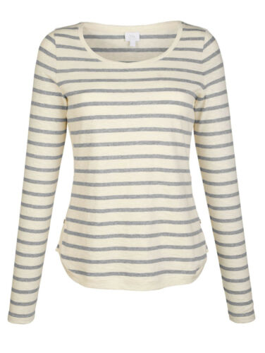 Neuf!! Alba Moda Shirt dans Ringeldessin offwhite Kp 59,95 € SOLDES/%/%/%