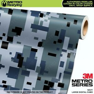 DIGITAL ELITE BLUE Camouflage Vinyl Car Wrap Camo Film Decal Sheet Roll Adhesive