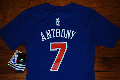 new arrival fc8fc 14e2d NEW Adidas #7 Carmelo Anthony New York Knicks Jersey Shirt (Youth Medium,  Large) | eBay