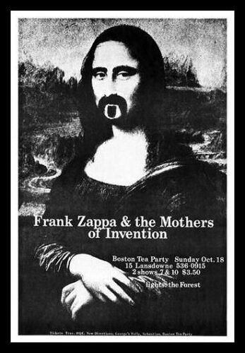 Frank Zappa FRIDGE MAGNET 6x8 Live Boston Concert Magnetic Poster