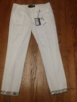 $295 Authentic Love Moschino 5-pocket White Pants Sz 28