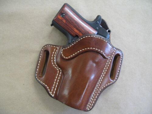Sig Sauer P938 938 9mm Leather 2 Slot Molded Pancake Belt Holster CCW TAN RH