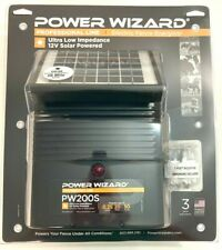 Power Wizard Professional Line Electric Fence Energizer 12v Solar Powered Pw200s