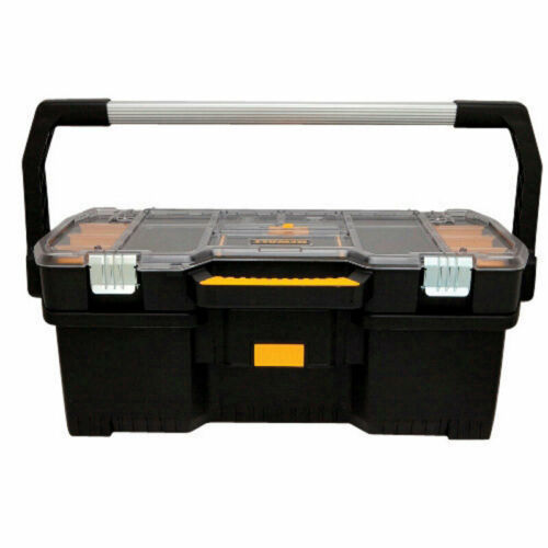 DeWalt  24 in H Black W x 9 in Resin  Tote with Removable Organizer  12 in