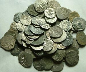 Lote-de-10-Original-Islamica-Plata-Akce-Monedas-Otomano-Empire-sin-Identificar