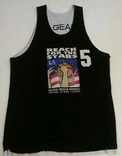 Vtg LA Gear Reach For The Stars Basketball Reversible League Jersey Sz Large