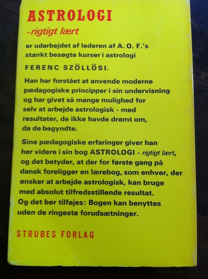 Astrologi rigtigt lært 1-2, Ferenc Szöllösi, emne: