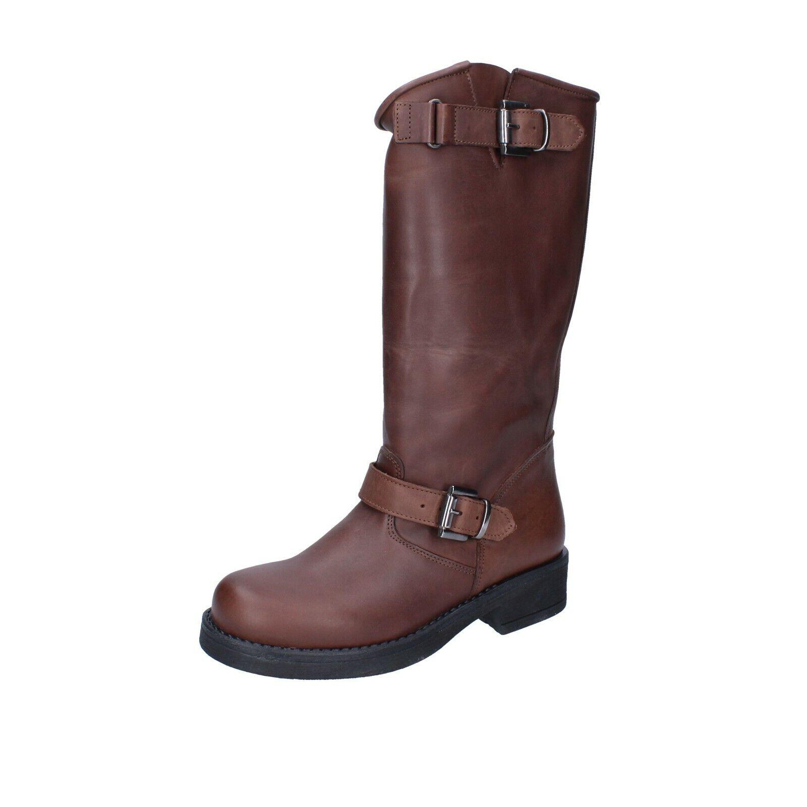 Chaussures Femmes J. né 7 (UE 37) Bottes en cuir marron BR90-37
