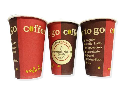 """400x Kaffeebecher 200ml /""""Coffee to go/"""" Hartpapierbecher Becher 3,73€//100Stk."""