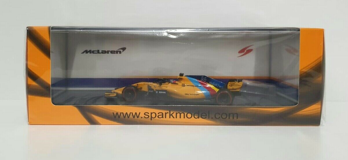 Spark 1 43 Model Car F1 F.Alonso Mclaren Gp Abu Dhabi 2018 Last Race S6069