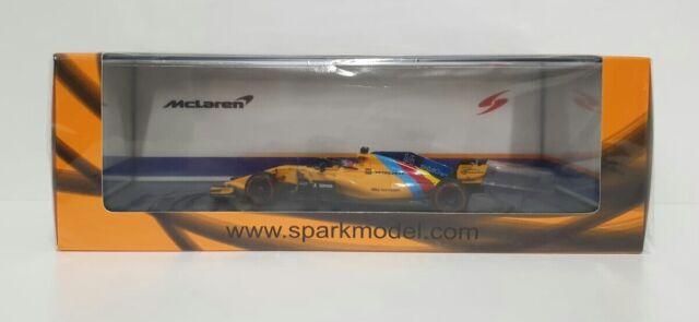 Spark 1/43 Model Car F1 F.Alonso Mclaren Gp Abu Dhabi 2018 Last Race S6069