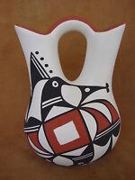Native American Acoma Indian Pottery Hand Painted Wedding Vase L Joe