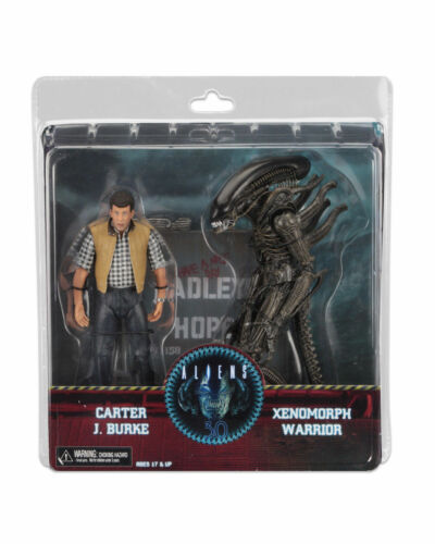 Burke Aliens Hadleys Hope Action Figure NECA Alien Warrior Xenomorph /& Carter J