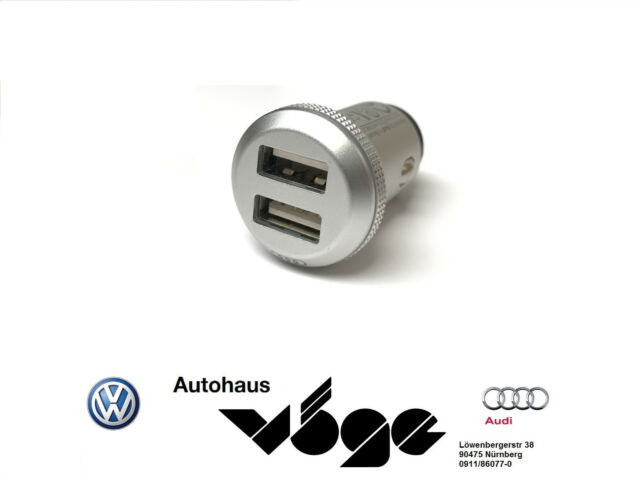 audi dual usb universal aluminium charging adapter. Black Bedroom Furniture Sets. Home Design Ideas