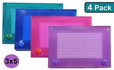 1intheoffice Index Card Case 3 X 5 Index Card Holder Assorted Colors 4 P