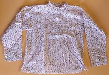 New M. FERRARI ITALY BEST & CO Girls White Pink Flowers Shirt Sz 6 Ruffle Collar