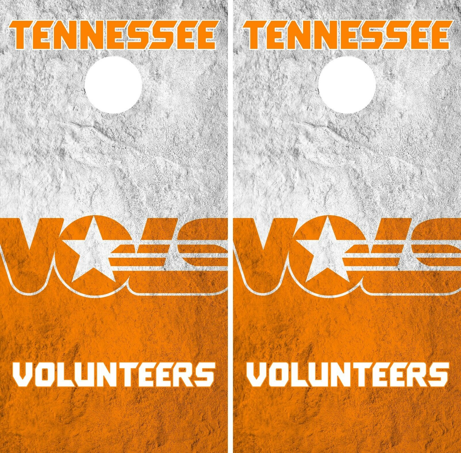 Tennessee Volunteers  Cornhole Wrap NCAA Art Decor Skin Vinyl Decal Set CO814  amazing colorways