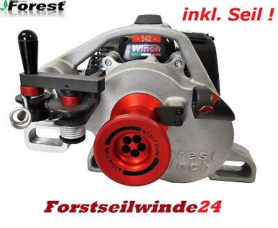 Forstseilwinde Docma VF 150 Seilwinde inkl 80m Stahlseil Benzinwinde