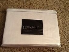 Luxe habitat twin sateen sheet set  NWT color; stone dorm luxe chic