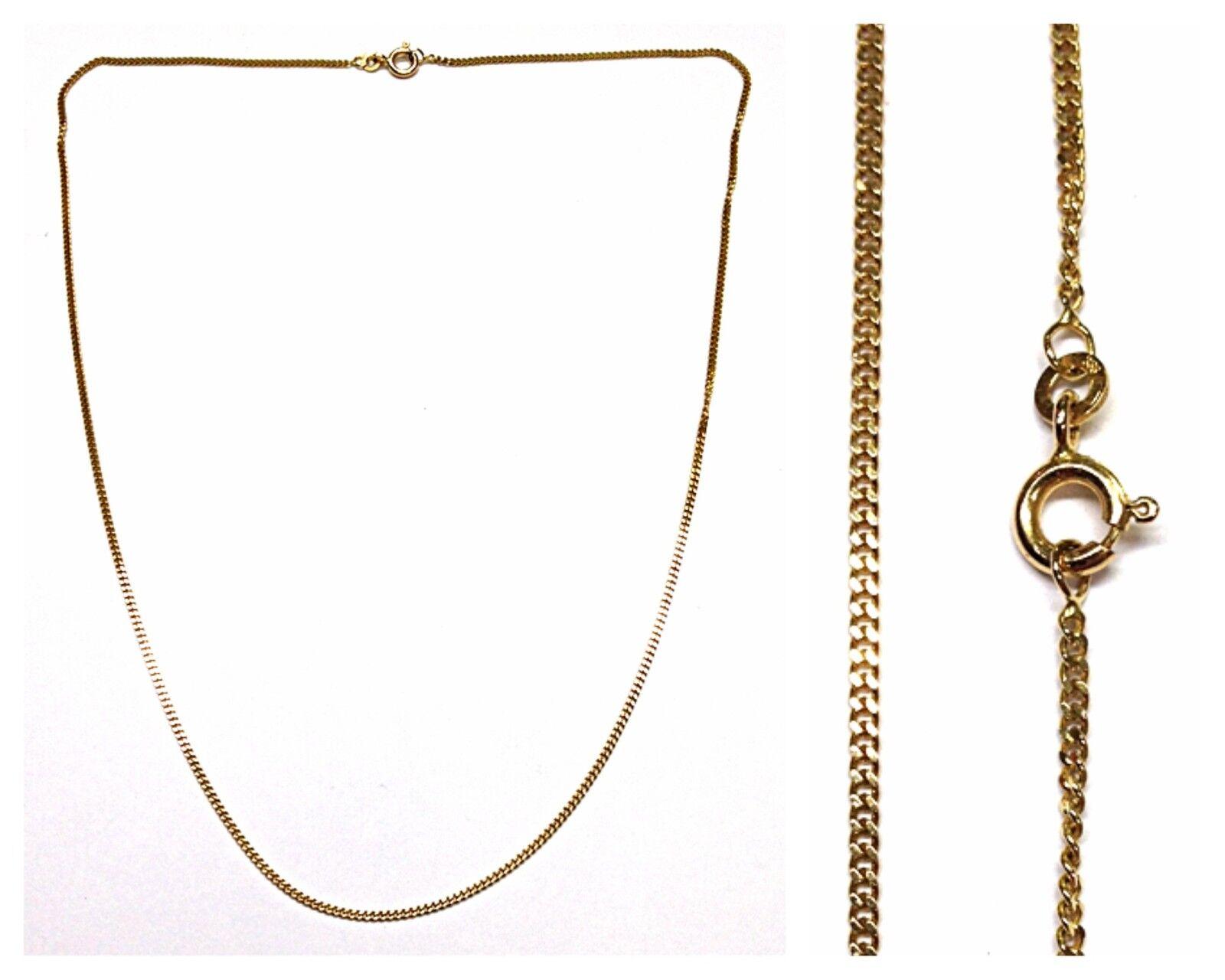 COLLANA MAGLIA GRUMETTA Catenella PIATTA Catena 333 gold collier in 50 cm