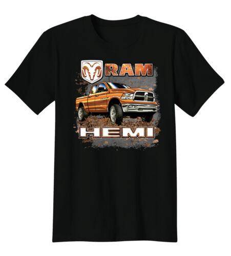 Ram Hemi Logo Dodge Trucks American Cars Guts Glory T-Shirt Tee