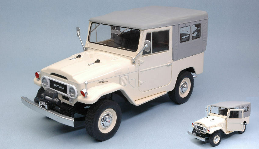 Toyota Land Cruiser Fj40 1967 Beige 1 18 Model TRIPLE 9