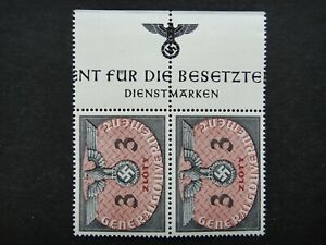 Germany Nazi 1940 Stamps MNH Swastika Eagle Pair 3z Generalgouvernement WWII Thi