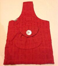 Handmade Red Front Pocket With Large Button Purse