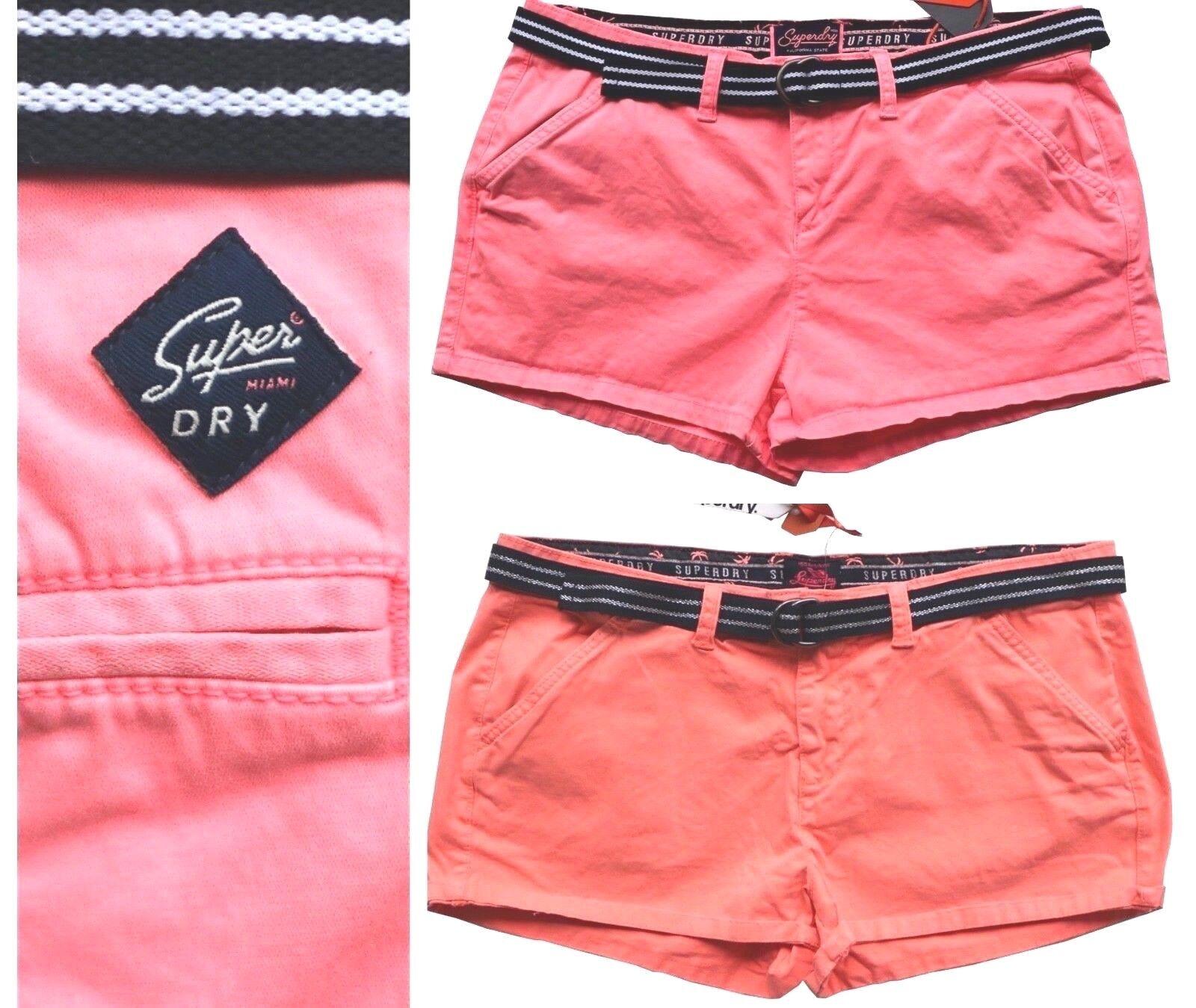 Superdry Shorts Dames International Vacances Chaud pink Néon, orange Fluo M, L,