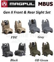 Magpul Mbus Gen 2 Sight Set Front & Rear Sights Mag247 & Mag248 Flip Up Buis
