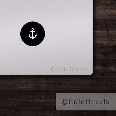 Anchor - Mac Apple Logo Cover Laptop Vinyl Decal Sticker Macbook Nautical