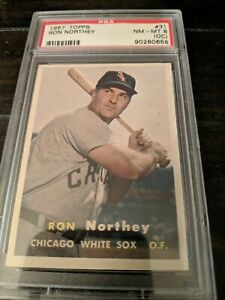 1957-Topps-Ron-Northey-PSA-8-NM-MT-OC-31-Chicago-White-Sox-Baseball-Card