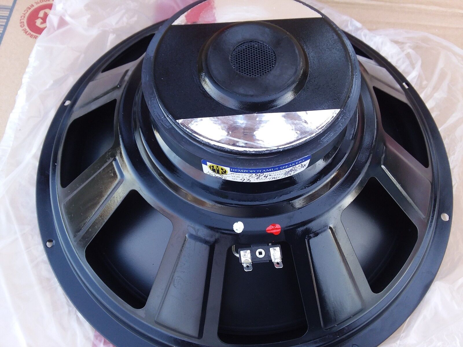 """NEW 12/"""" REPLACEMENT WOOFER  OPEN BAFFLE SPEAKER HI-FI 8 OHM POLY RUBBER SUB"""