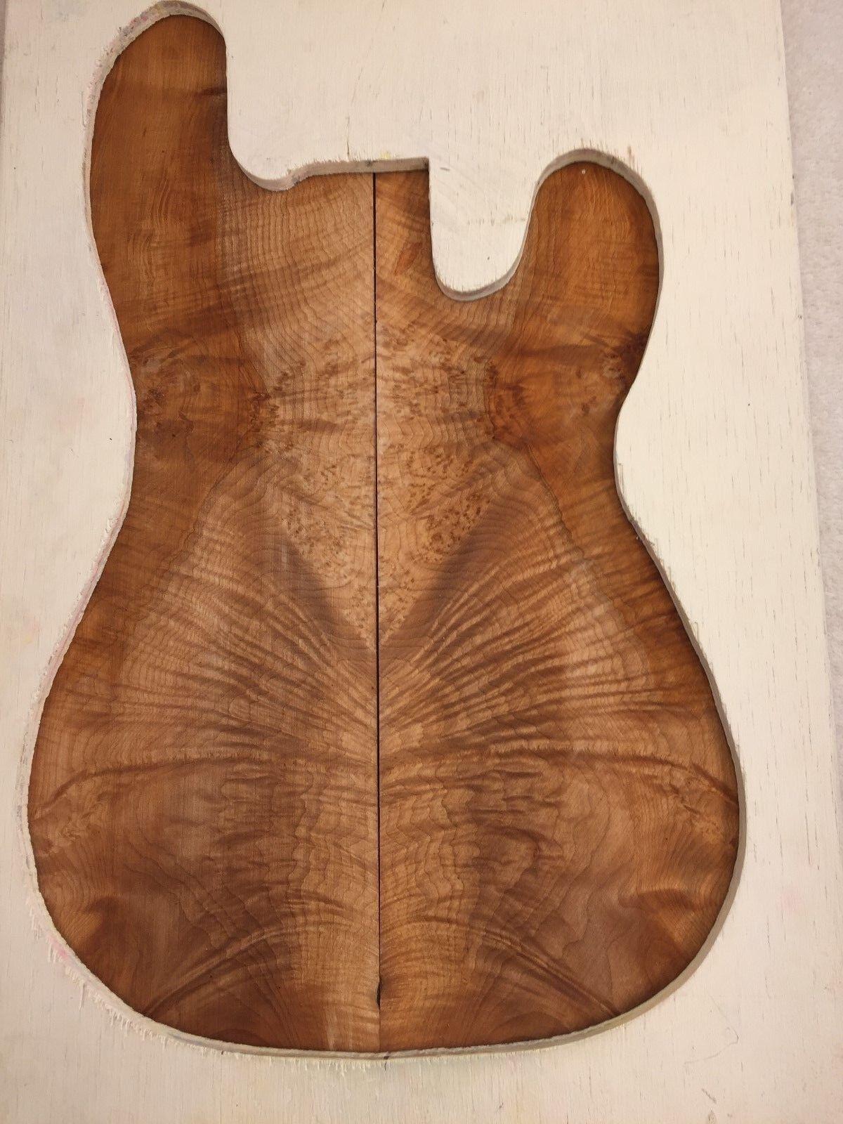 Maple Burl book match set luthier guitar tone wood .27 x 16 x 23    S-209