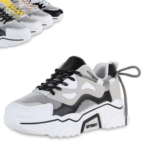 Damen Plateau Sneaker Prints Turnschuhe Chunky Freizeitschuhe 898946 Top