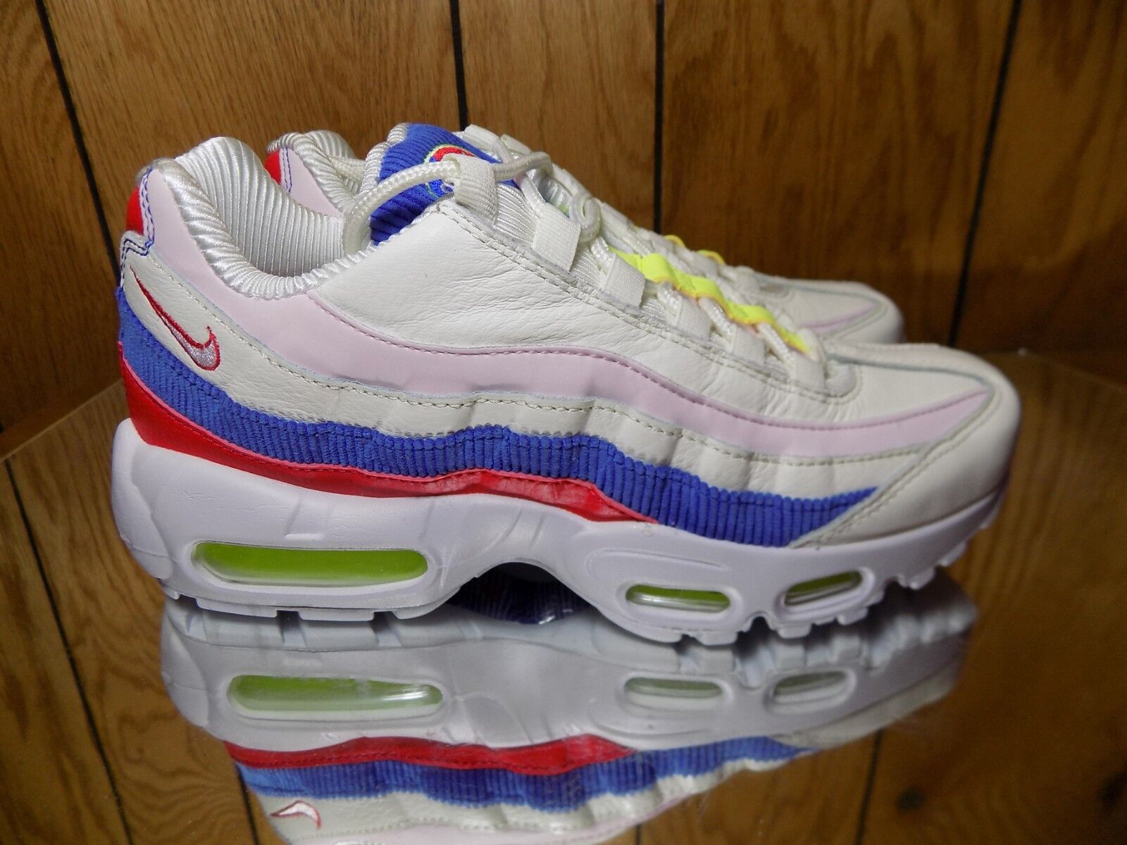 Nike Air Max 95 SE Panache Womens Sz 7.5 AQ4138-101 Sail Pink bluee Red shoes NEW