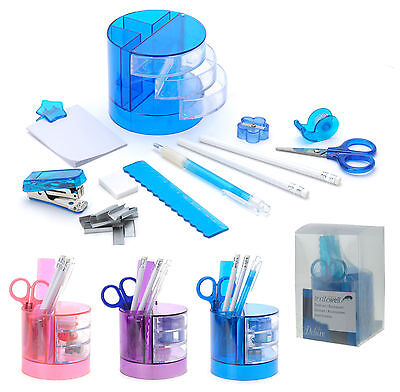 13 Piece Office Stationery Desk Tidy Organiser Desk Accessory Set Pen Holder