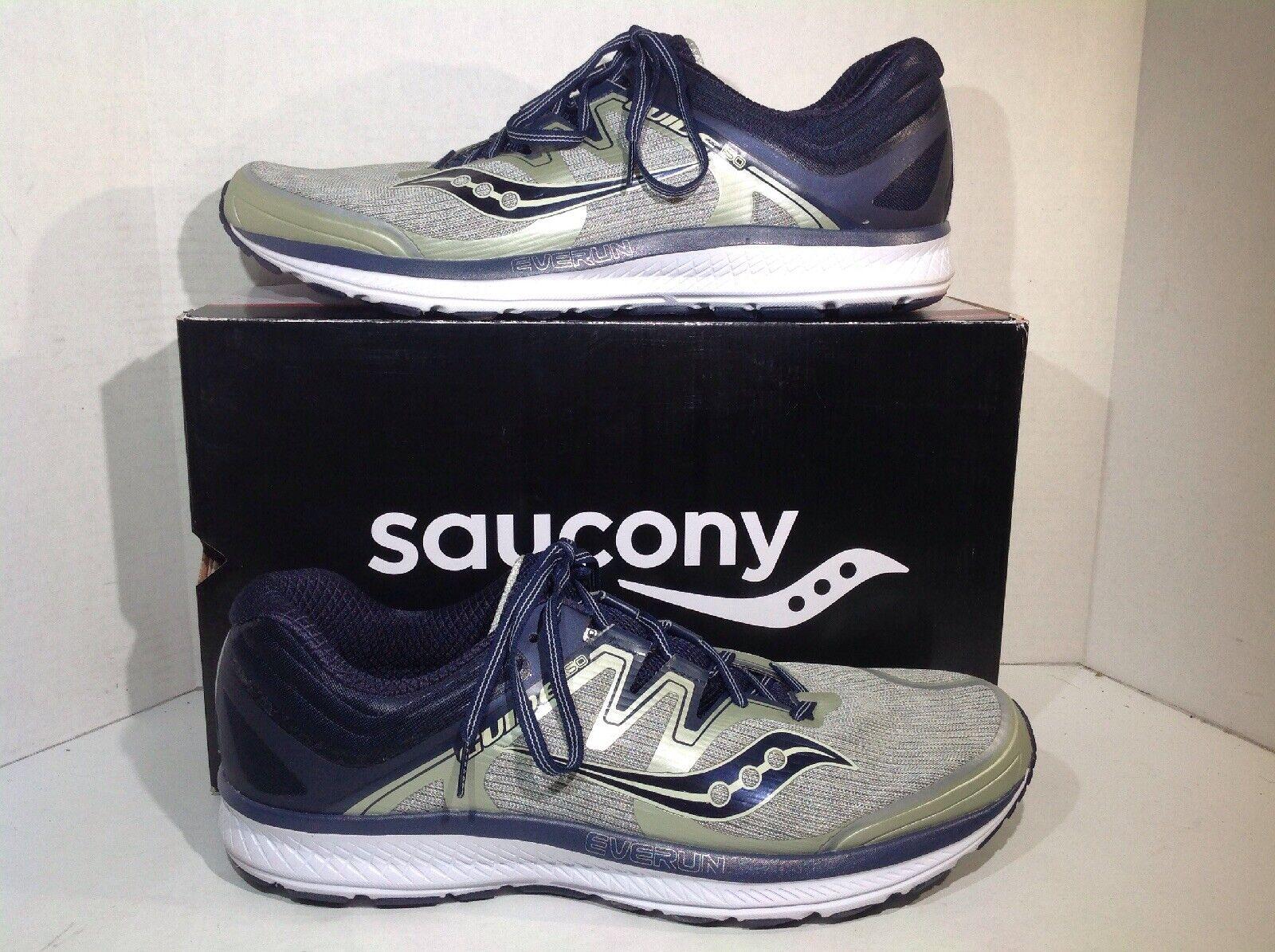 Saucony Para Hombre Guide ISO gris Azul Marino Atléticas Zapatos para correr YC-812