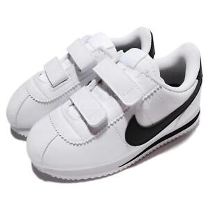 a51a6f3087f Nike Cortez Basic SL TDV White Black Toddler Infant Baby Shoe ...
