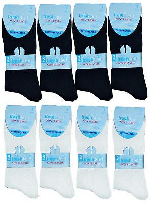 Einfach New 12 Pairs Men's Women Ladies Non Elastic Socks Lycra Cotton Easy Grip Socks GroßE Sorten