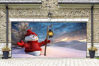 Sonstige 3d Christmas Decor Garage Door Covers Banners Full Color Print Billboard Gd46 Mobel Wohnen