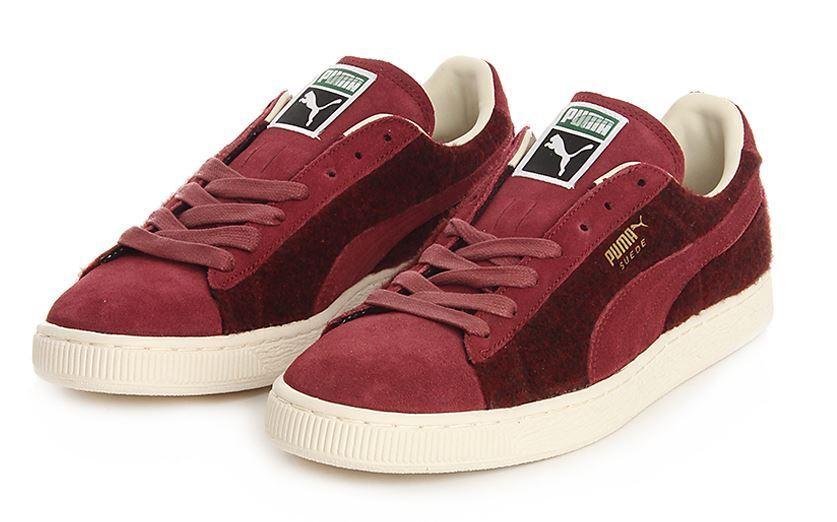 Puma Chaussures Homme Baskets En Daim Couleur Bordeaux N.43