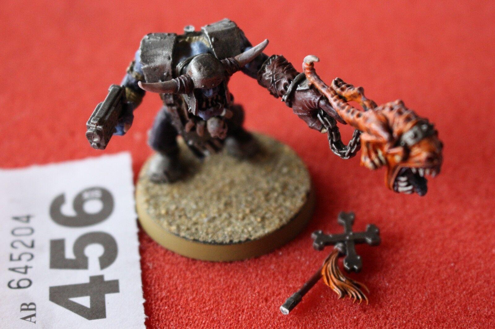 Juegos taller Warhammer 40k Orks Warboss con ataque Squig así figura pintada