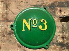 No 3 John Deere Cover Antique Tractor Parts Farm Advertising Cast Iron Z848 H